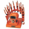 RAINBOW DEAL STAND/STOVE/10 IRONS-ORANGE