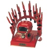 RAINBOW DEAL STAND/STOVE/10 IRONS-RED