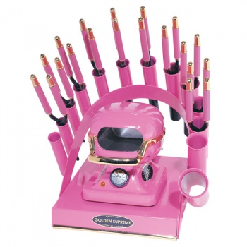 RAINBOW DEAL STAND/STOVE/10 IRONS-HOT PINK